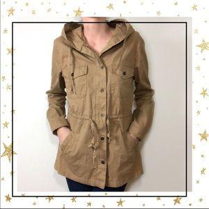 Love Tree Women's Large tan utility jacket (C2)